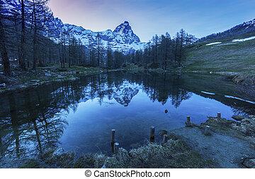 Matterhorn reflected in Blue Lake