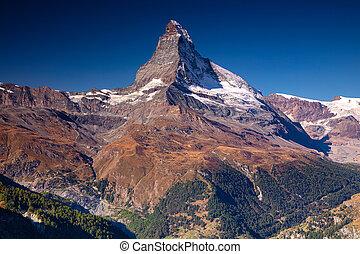 matterhorn, svizzero, alps.