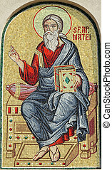 matthew, ο , απόστολος , λεπτομέρεια , από , μωσαικό , από ,...