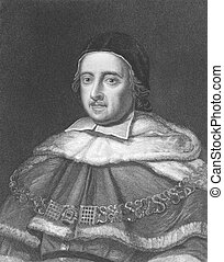 Matthew Hale (1609-1676) on engraving from the 1800s. Lord...