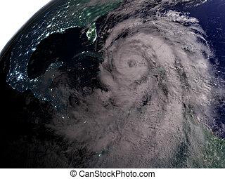matthew, ouragan, nuit