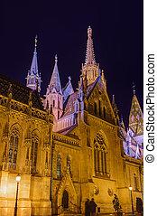 Matthias Church and Fisherman Bastion in Budapest Hungary -...