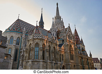Matthias Church, Budapest, Hungary - Matthias Church in...