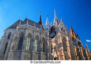 Matthias Church. Budapest, Hungary - Matthias Church on...