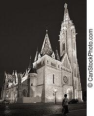 Matthias Church, Budapest - Evening shot of the Matthias...