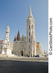 Matthias Church, Budapest - shot of the Matthias Church,...