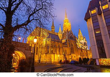 Matthias Church, Budapest - Matthias Church in Buda Castle,...