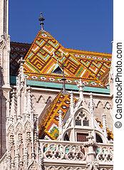 Matthias church details, Budapest