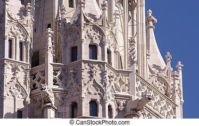 Matthias church details in Budapest, Hungary