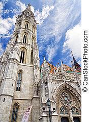 Matthias Church in Budapest, Hungary - Tower of Matthias...