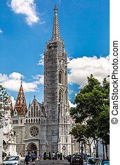 Matthias Church in Budapest in a sunny day