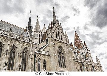 Matthias Church in Budapest. - Matthias Church in Budapest,...