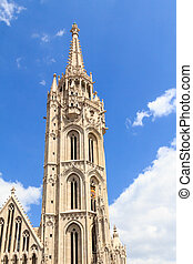 Matthias church tower in Budapest