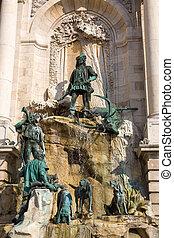Matthias Fountain in Budapest - Matthias Fountain at Royal...