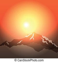 mattina, montagne