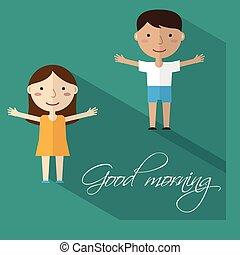 mattina, vector., gymnastics.