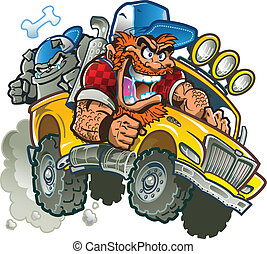 matto, camion, pickup, redneck