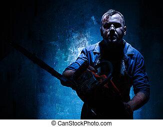 matto, elettrico, assassino, halloween, macellaio, ...