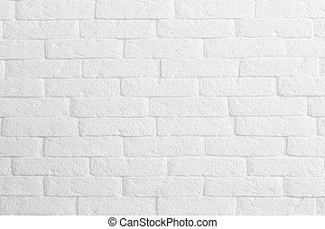 mattone bianco, parete, fondo