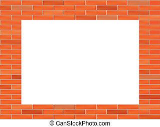mattone, buco, illustrazione, parete, grande