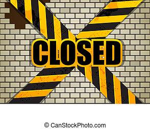 mattone, chiuso, wall.