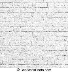 mattone, parete bianca