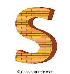 mattone, s, lettera
