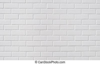 mattone, sfondo bianco, parete