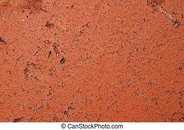 mattone, sfondo rosso
