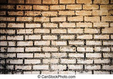 mattone, vecchio, wall.