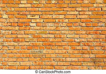 mattoni, parete, rosso, struttura