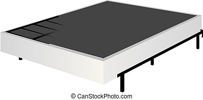 Mattress and classic base - Mattress and classic frame base....