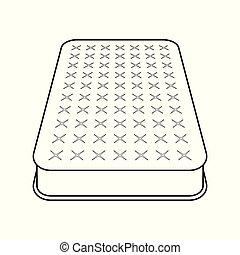 Mattress flat icon. Outline medical mattress, vector...