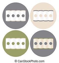 Mattress Structure Icons Set
