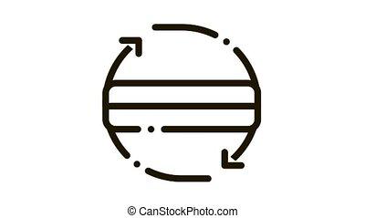 Mattress Two Side Arrow Icon Animation. black Mattress Two Side Arrow animated icon on white background
