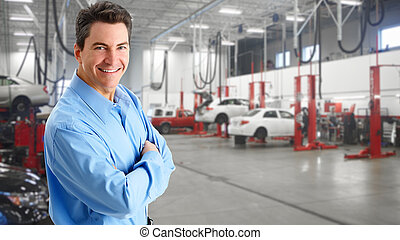 Mature auto mechanic.