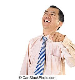 Mature business man laughing