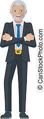 Mature Business Man Mascot Concept
