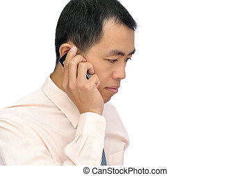 Mature business man using cellphone