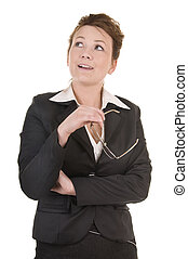 Mature Business Woman is deep in thought - Confident mature...
