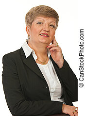 Mature business woman posing