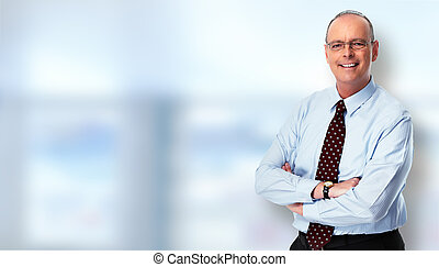 Mature businessman. - Mature handsome businessman portrait...