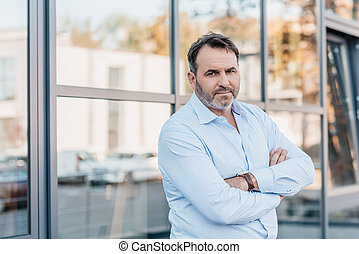 businessman with crossed arms