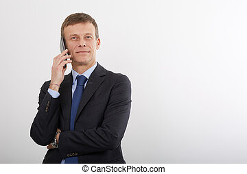 mature businessman working