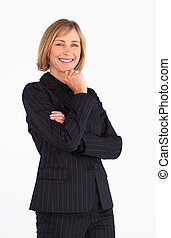 Mature businesswoman smiling at the camera