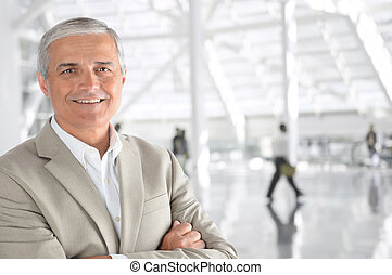 Mature Casual Businessman - Closeup of a mature businessman...