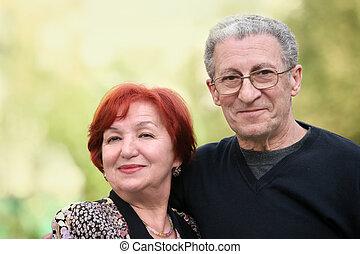 Mature couple - A portrait of a happy mature couple