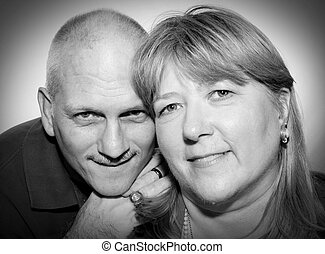 Mature Couple B&W