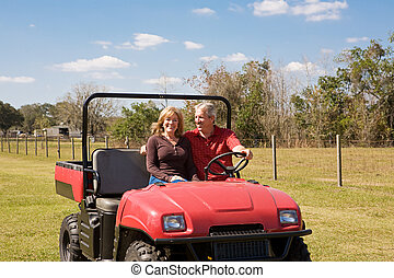 Mature Couple - Fun on the Farm