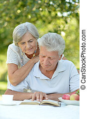 mature couple have a rest